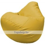 Кресло мешок Груша Макси Светло-жёлтое