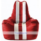 Кресло мешок Спортинг красный, белый